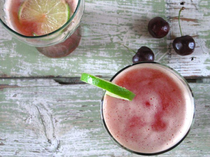 Sparkling Cherry Limeade | eatsomethingdelicious.com
