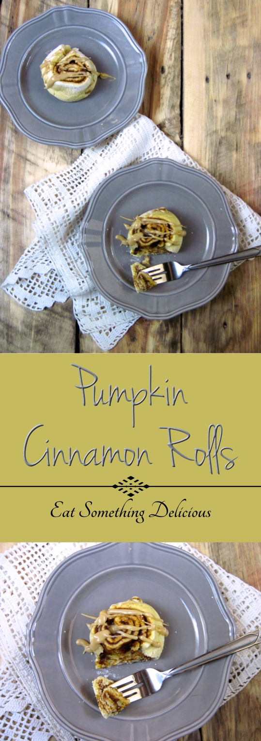 These paleo-friendly pumpkin cinnamon rolls make the perfect fall treat. They have a sticky spiced pumpkin filling and use natural maple butter as the icing.
