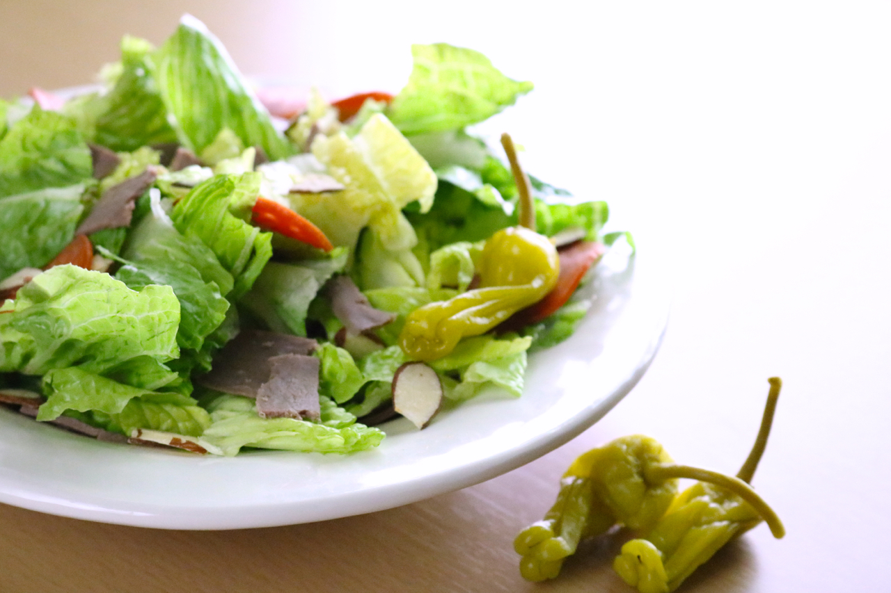 """The """"I Forgot My Lunch"""" Salad   For those days you forget to bring a lunch to the office, you can quickly grab ingredients for this paleo-friendly meal over your lunch break and still have some leftovers in the break room fridge to enjoy later in the week.   eatsomethingdelicious.com"""