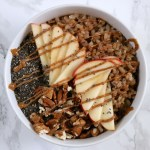 Instant Pot Breakfast Rice Bowls | Breakfast rice is a delicious, gluten free swap for oatmeal and can be made in an Instant Pot or stovetop with very little effort. Top with all your favorite oatmeal toppings and mix-ins. Base recipe is vegan-friendly. | eatsomethingdelicious.com