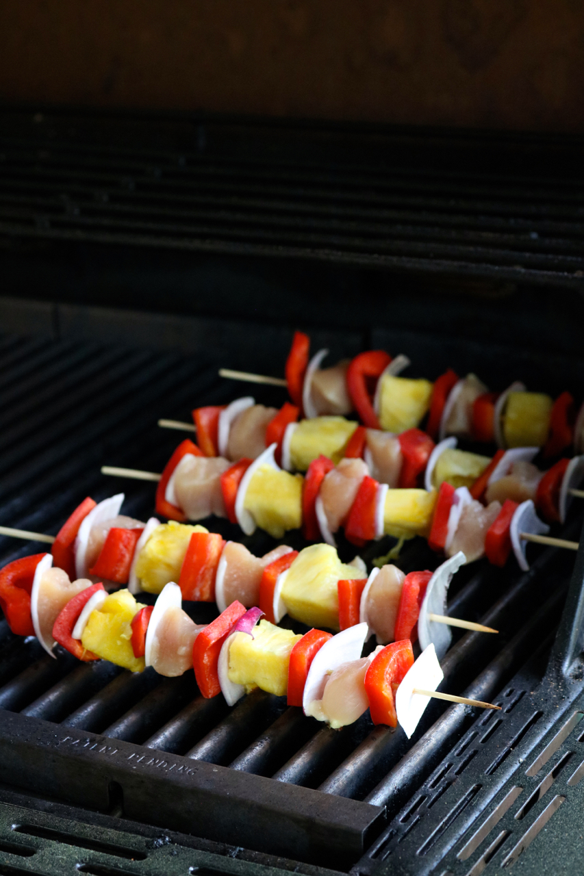 Grilled Sweet & Sour Chicken Kebabs   Put these kebabs on the grill for an outdoor cooking spin on sweet & sour chicken with less mess. This recipe is gluten and dairy free with a paleo option.   eatsomethingdelicious.com