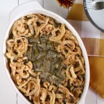 Green Bean Casserole | Put green bean casserole back on your Thanksgiving menu with this gluten free, dairy free version. Just as good as the original and incldues a vegan option! | eatsomethingdelicious.com