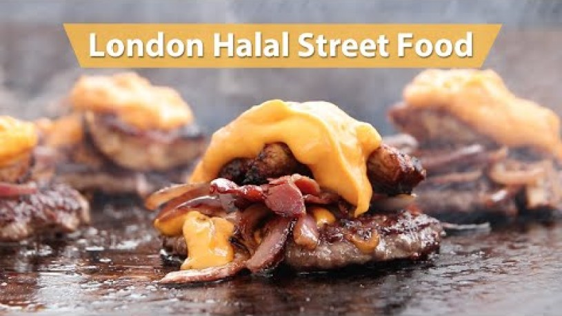 Halal Food Street in Manchester