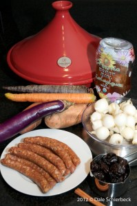 Ingredients for Merguez Tagine