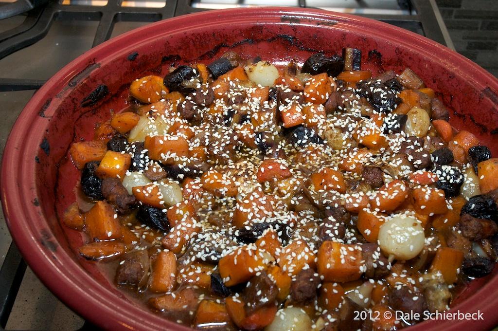 Merguez Tagine with Winter Vegetables