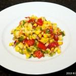 Roasted Corn Salad Plated