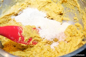 Add Dry Ingredients to Squash Fritters