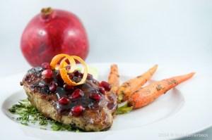 Pomegranate and Vodka Glazed Chicken