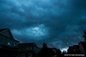 Eye in the Storm Sky