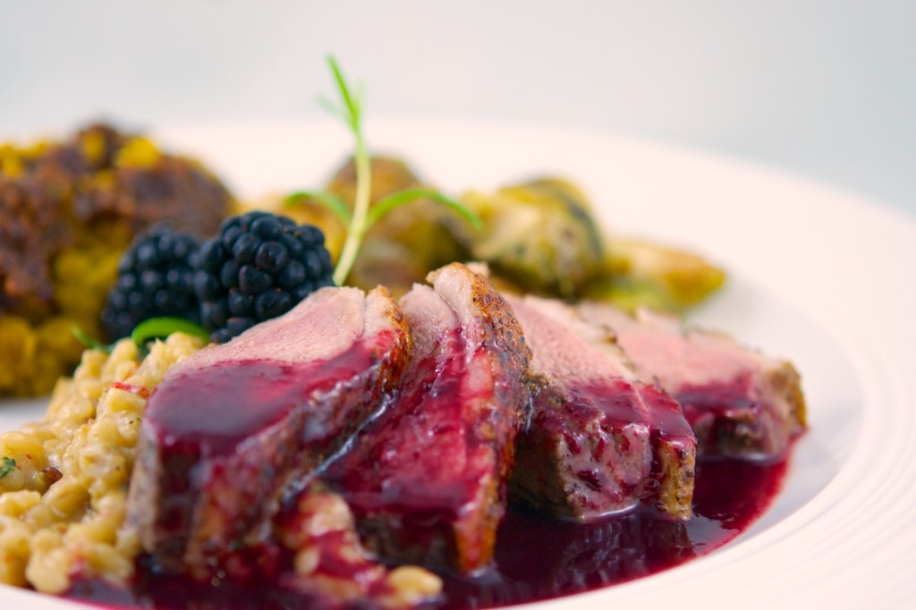 Duck with Blackberry-Chambord Sauce