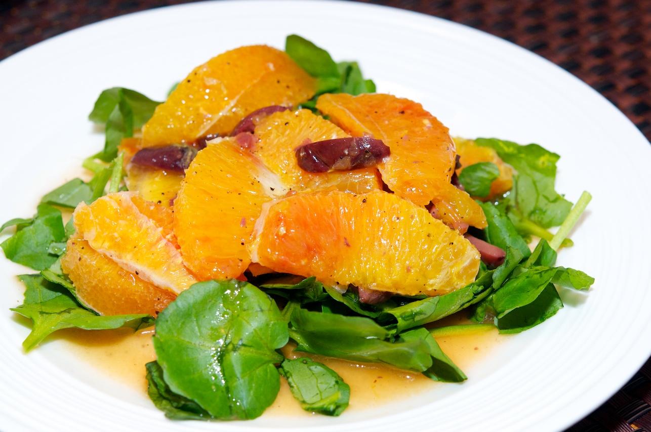 Sicilian Orange Salad with Watercress