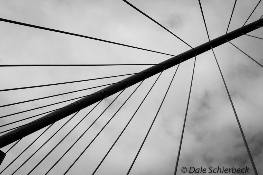 Zubizuri Bridge in Bilbao Spain
