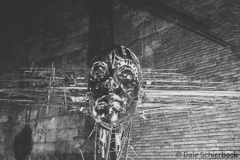 molten cast metal statue