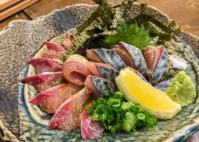 If you're a fish eater, be sure to try some Sashimi during your two weeks in Japan