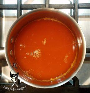 making the orange jelly