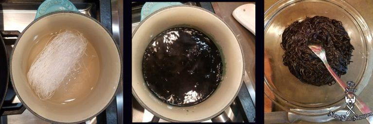 black mung noodles