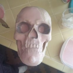 Making a skull mold with food safe silicone