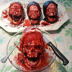death by Chocolate skull cake