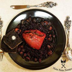 Roasting a heart for Halloween dinner