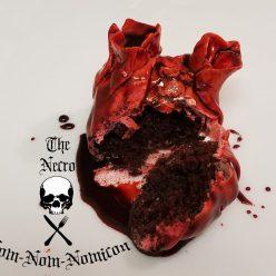 bleeding heart cupcake for halloween