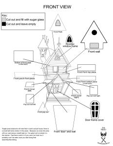 Nightmare Before Christmas Gingerbread House Jack Skellington blueprints