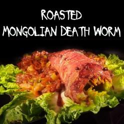 roasted mongolian death worm recipe