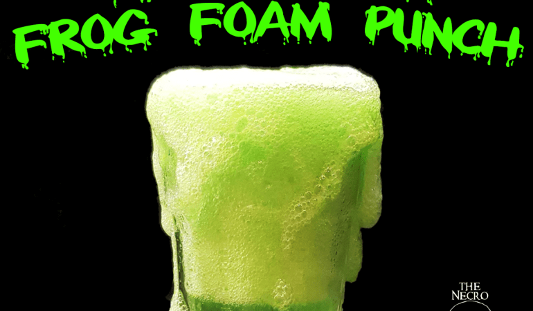 Super slimy 100% edible slime frog foam