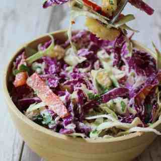Creamy Pineapple Ginger Slaw {Vegan, Whole30, Paleo}