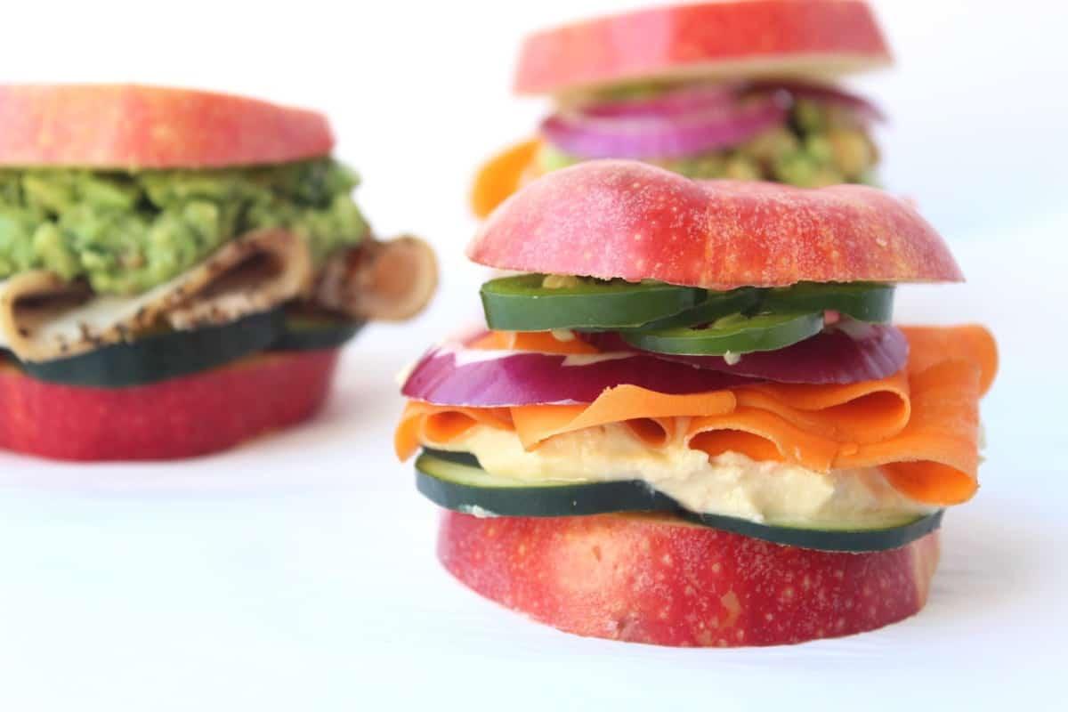 Customizable Apple Bun Sandwiches