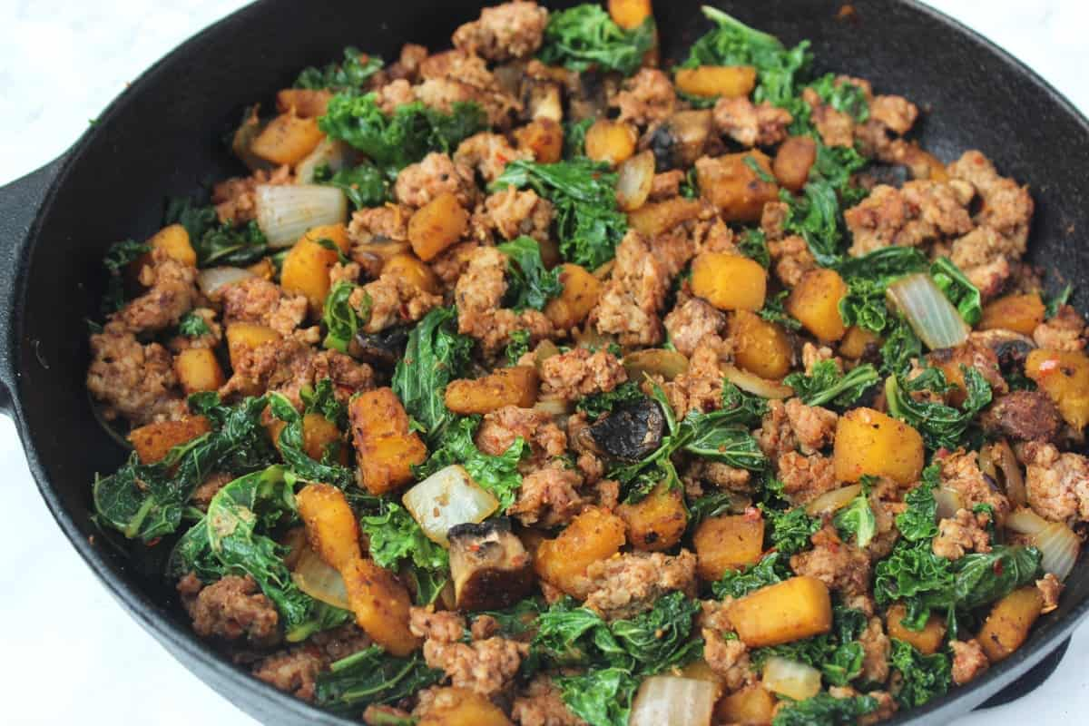 Sausage & Pumpkin Vegetable Hash