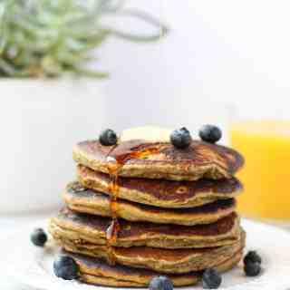 Cinnamon Plantain Protein Pancakes
