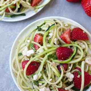 Strawberry Zucchini Noodle Salad