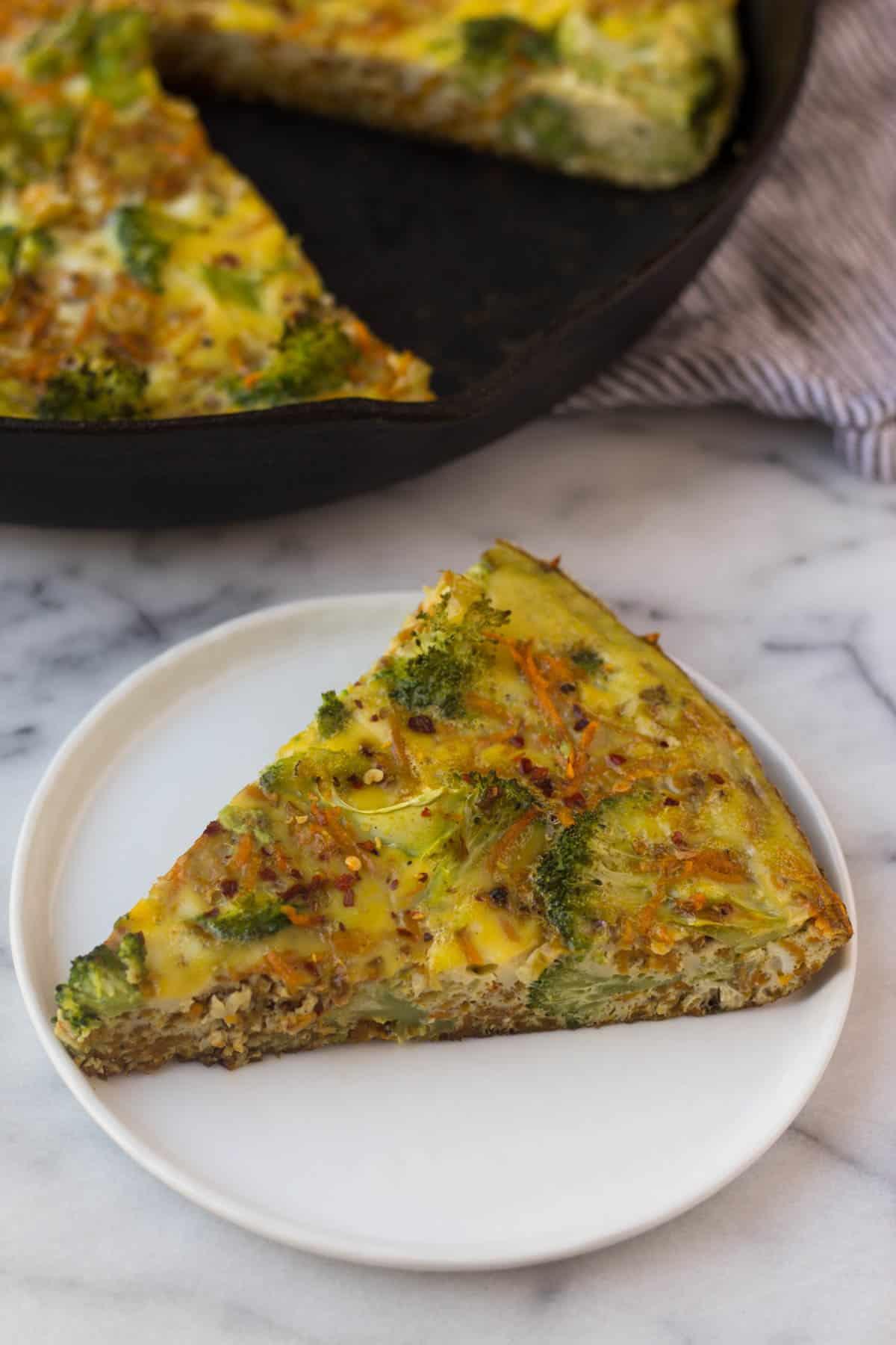 Sweet Potato Broccoli Frittata - Eat the Gains