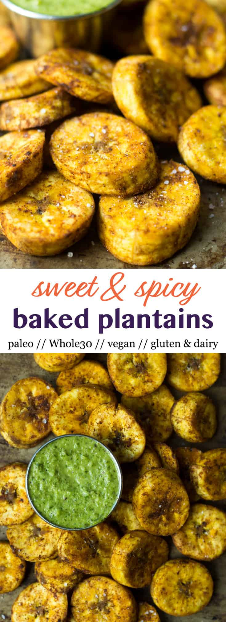 A great carb source, theseSweet & Spicy Baked Plantains are aneasy side for breakfast or dinner and are paleo, vegan, and Whole30 approved! - Eat the Gains