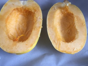Cleaned Spaghetti Squash, via Eat the Vegan Rainbow