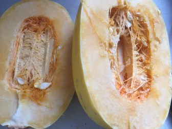 Cut Spaghetti Squash, via Eat the Vegan Rainbow