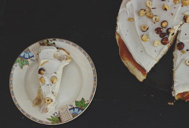 choc hazelnut torte slice