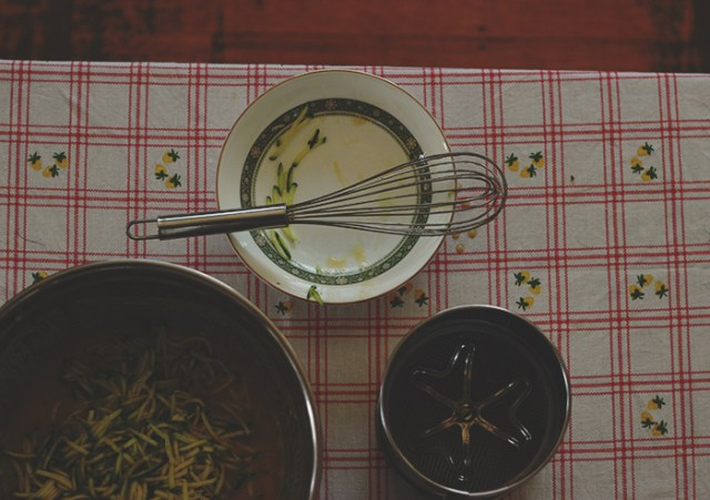 zucchini sultana loaf prep