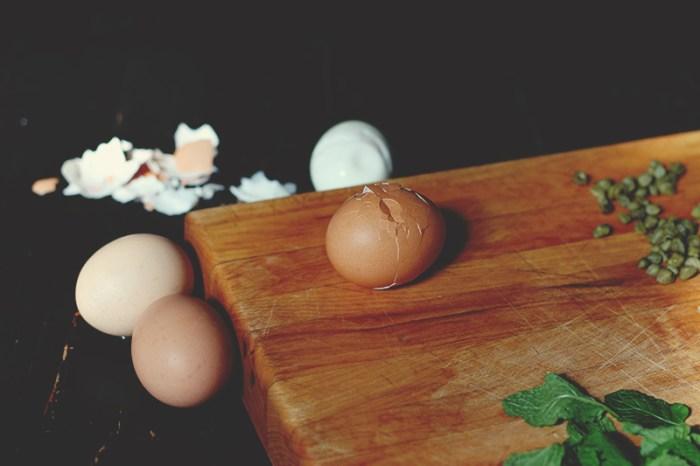 egg and caper board