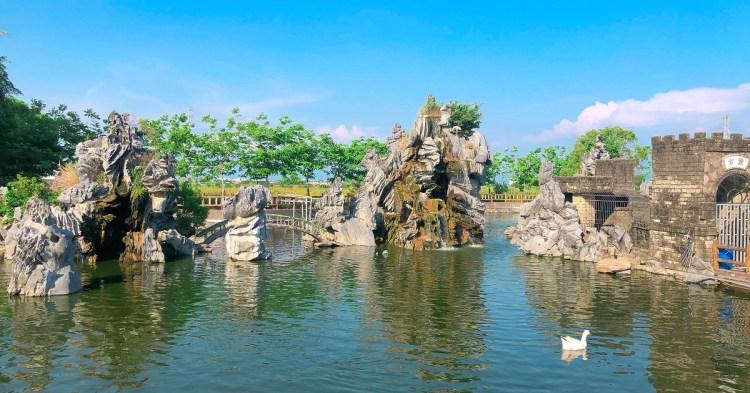 佳福寺|在鄉下田間的寧靜寺廟,有造景池/小型運動公園/烤肉區/小朋友的遊憩區,也是闔家休閒的好去處!