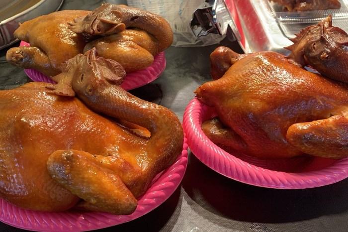 北安利多黃昏市場|童哥小葉烤雞烤鴨,在地人吃晚餐的好選擇!