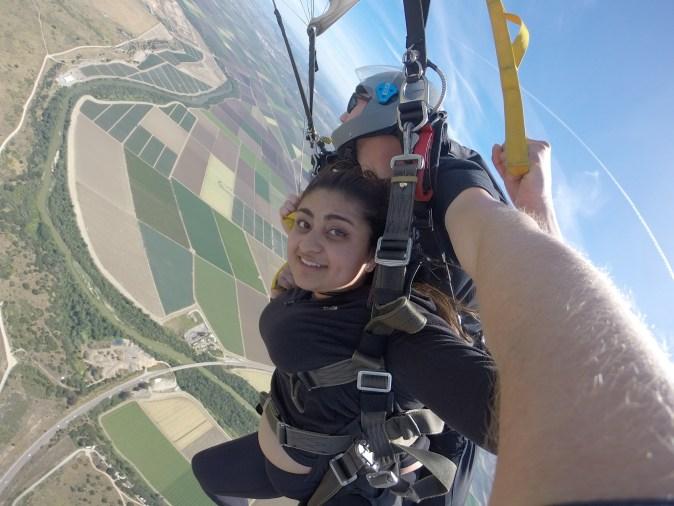 skydiving in monterey bay