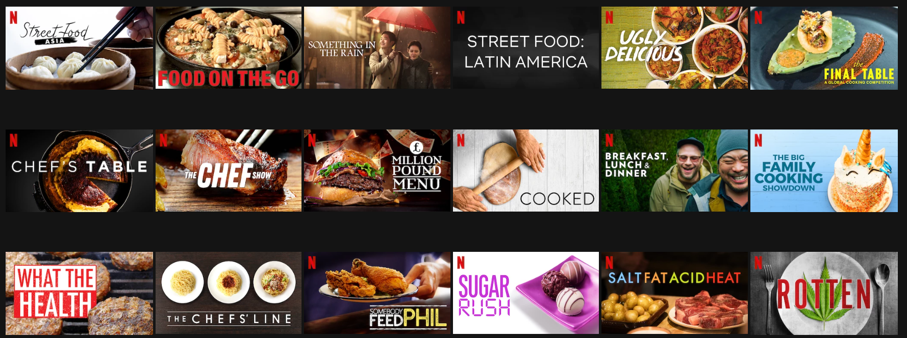 food documentaries and shows on netflix