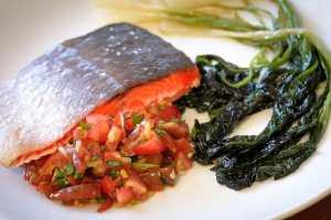 Salmon over Ramp Salsa