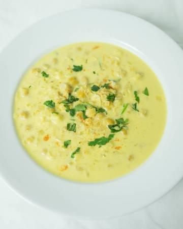 Saffron Chickpea Soup