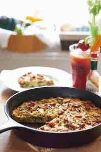 Bacon, Mushroom, Spinach Frittata