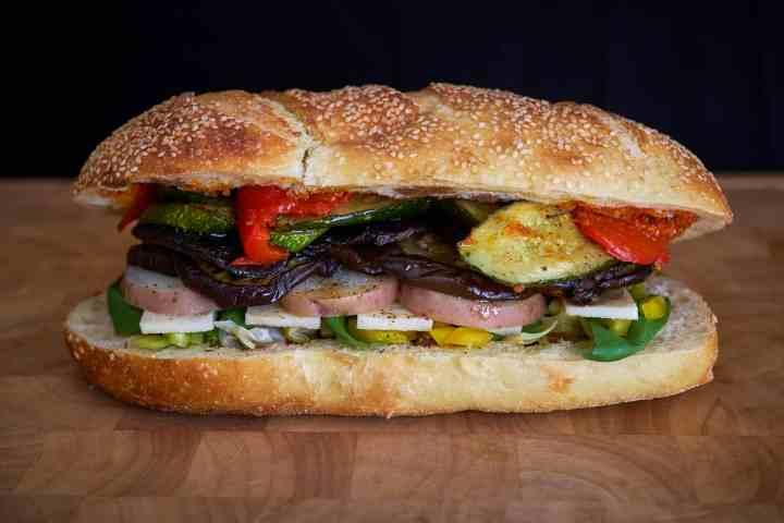 Pressed Roast Vegetable Sandwich