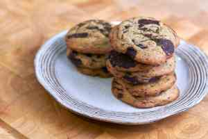 Tahini Chocolate Chunk Cookies with Zahtar