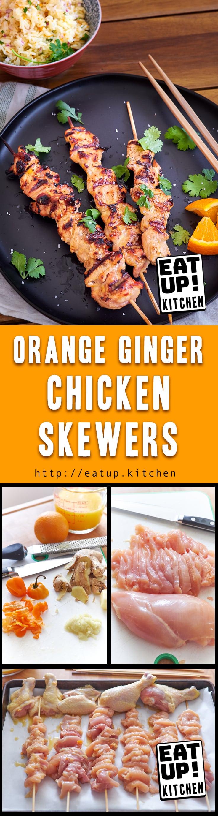 Orange Ginger Chicken Skewers
