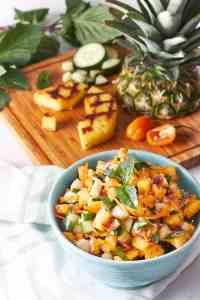 Grilled Pineapple Thai Salsa